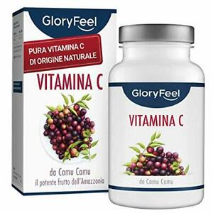 GloryFeel® Vitamina C Naturale - 120 Capsule Vegane per 4 Mesi - 650mg Puro...