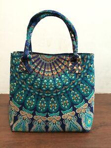 Indian Mandala Handbag Women Bag Bohemian Shopping Shoulder Carry Tote Purse Bag