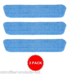 3 Microfiber Replacement Household Wet Scrub Mop Pads