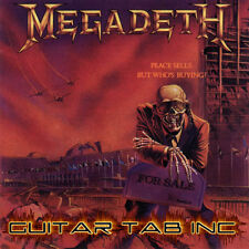 Megadeth Digital Guitar & Bass Tab PEACE SELLS... Lessons on Disc Chris Poland