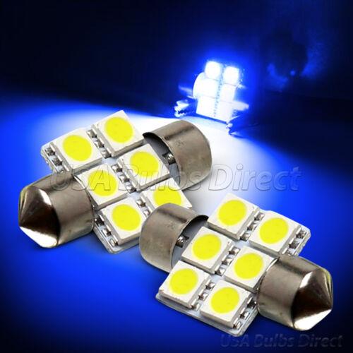Blue Smd 6-LED Map//Dome Interior Lights Bulbs//Bulb 31mm Festoon 1L