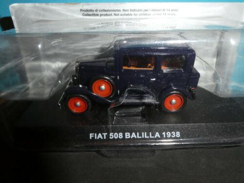 De Agostini  model 1:43 Fiat 508 Balilla1938 Carabinieri in Blue Radiator Sign
