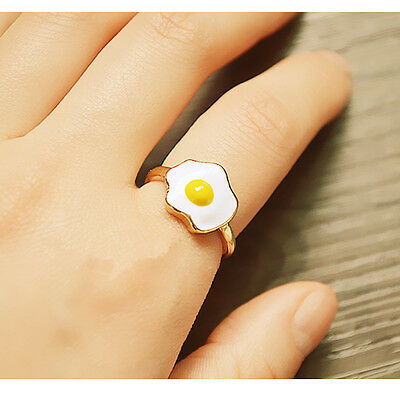 Cute Lovely Poached Eggs Image Opening Ring Adjustable Ring Accessories