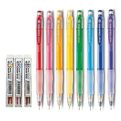 0.7mm Mechanical Pencil Mechanical Pencil Lead 0.7mm Pilot Color Eno Soft Blue Set 10 Leads Soft Blue Japan Import