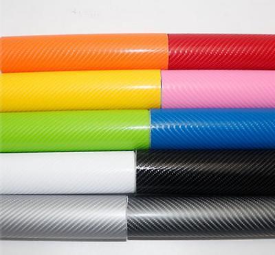 4D Carbon Fiber Vinyl Wrap Film Sticker Air//Bubble Free All Colours All Sizes
