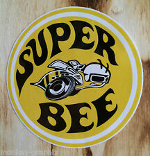 "Oldschool Sticker "" Super Bee yellow "" Muscle V8 US Car / Roadrunner / Dodge"