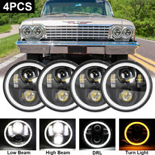 New Listing4x 5 34 575 Round Led Hilo Drl Headlights For Chevy Impala Bel Air El Camino Fits 1972 Charger