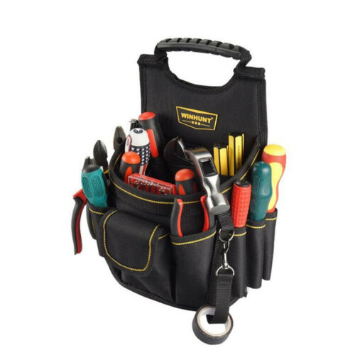 Details about  /Heavy Duty Electrician Tool Pouch Waist Work Pouch for Electrician Technician