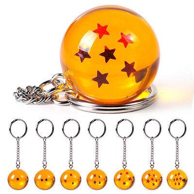 Keychain Crystal Dragon Ball Z DBZ Cosplay Ball 7 Stars Keyring Pendant Gifts CH