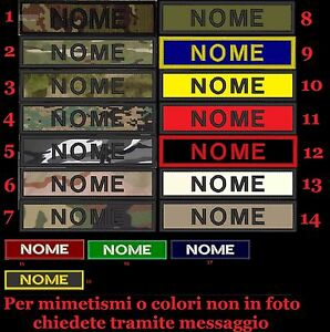 Patch-nome-softair-toppa-TOPPE-personalizzata-ESERCITO-SOFTAIR-AIRSOFT-CIVILE