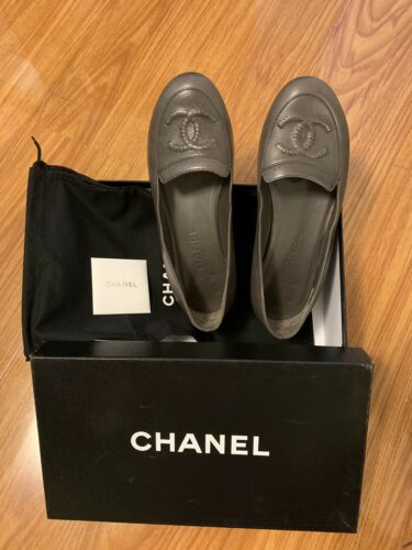 100% Authentic Chanel Loafers Size 6