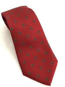 c5ce3e4b1cbc Image is loading Christian-Dior-Necktie-All-Silk-Red-Macclesfield-Print-