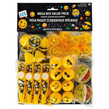 EMOJI LOL FAVOR PACK (48pc) ~ Birthday Party Supplies Toys iPhone Android Smile