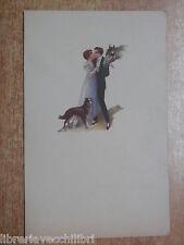 Vecchia cartolina illustrata d epoca Edizioni ILDAG Milano scritta non viaggiata
