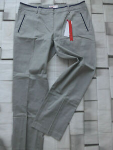 Sheego-Trousers-Cloth-Pants-Strech-Grey-Size-44-short-22-plus-446