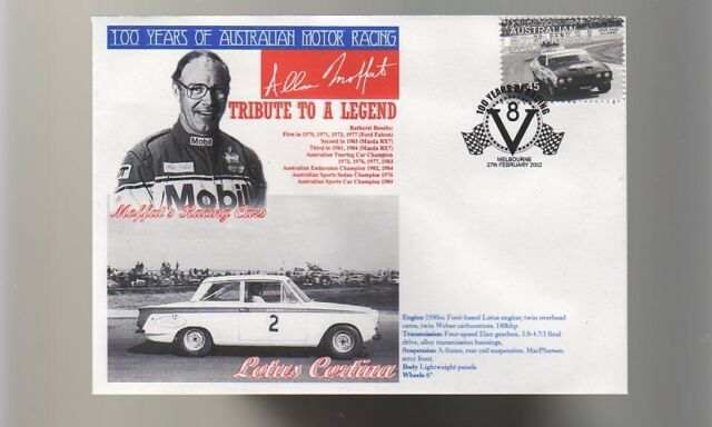 ALLAN MOFFATS RACING CARS TRIBUTE COV, LOTUS CORTINA