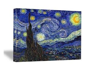 Starry-Night-Van-Gogh-Painting-Fine-Art-Canvas-Print-Repro-Picture-Home-Decor