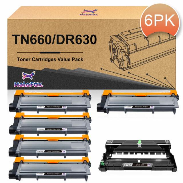 2 x TN660 Toner For Brother HL-L2320D HL-L2340DW HL-L2360DW DR630 Drum Unit