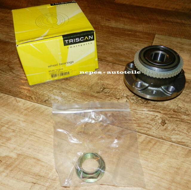 1 x TRISCAN 8530 10240 Radlagersatz HA CITROËN FIAT PEUGEOT (mit ABS-Sensor)