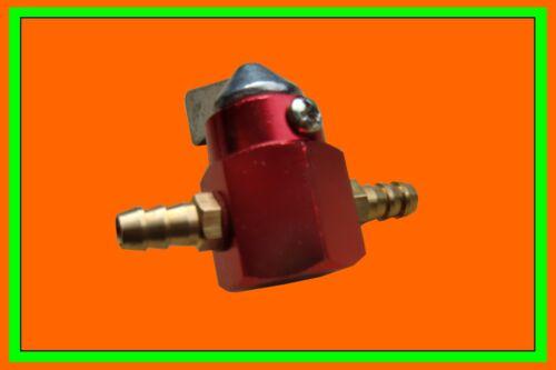 Benzin Absperrhahn Metall 6mm rot Benzinhahn Roller Mofa Honda Moped Tank