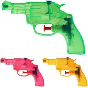 10x Wasserpistole Wasser-Pistole Spritzpistole Kanone Transparent Revolver 13 cm