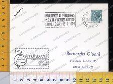 2590] TARGHETTA PUBBLICITARIA SALERNO 1979 - MONUMENTO A VINCENZO GIUDICE