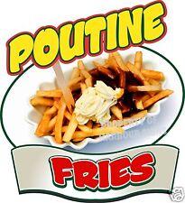 "Poutine Fries Decal 14"" Gravy Cheese Restaurant Concession Food Menu Sticker"