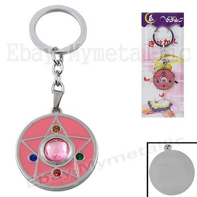 Sailor Moon Usagi Tsukino Crystal Star Transform Item Metal Key Ring Chain NIB