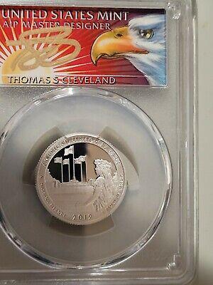 2019 S 25C Silver American Mem Quarter PCGS PR70DCAM FDOI Thomas Cleveland Eagle