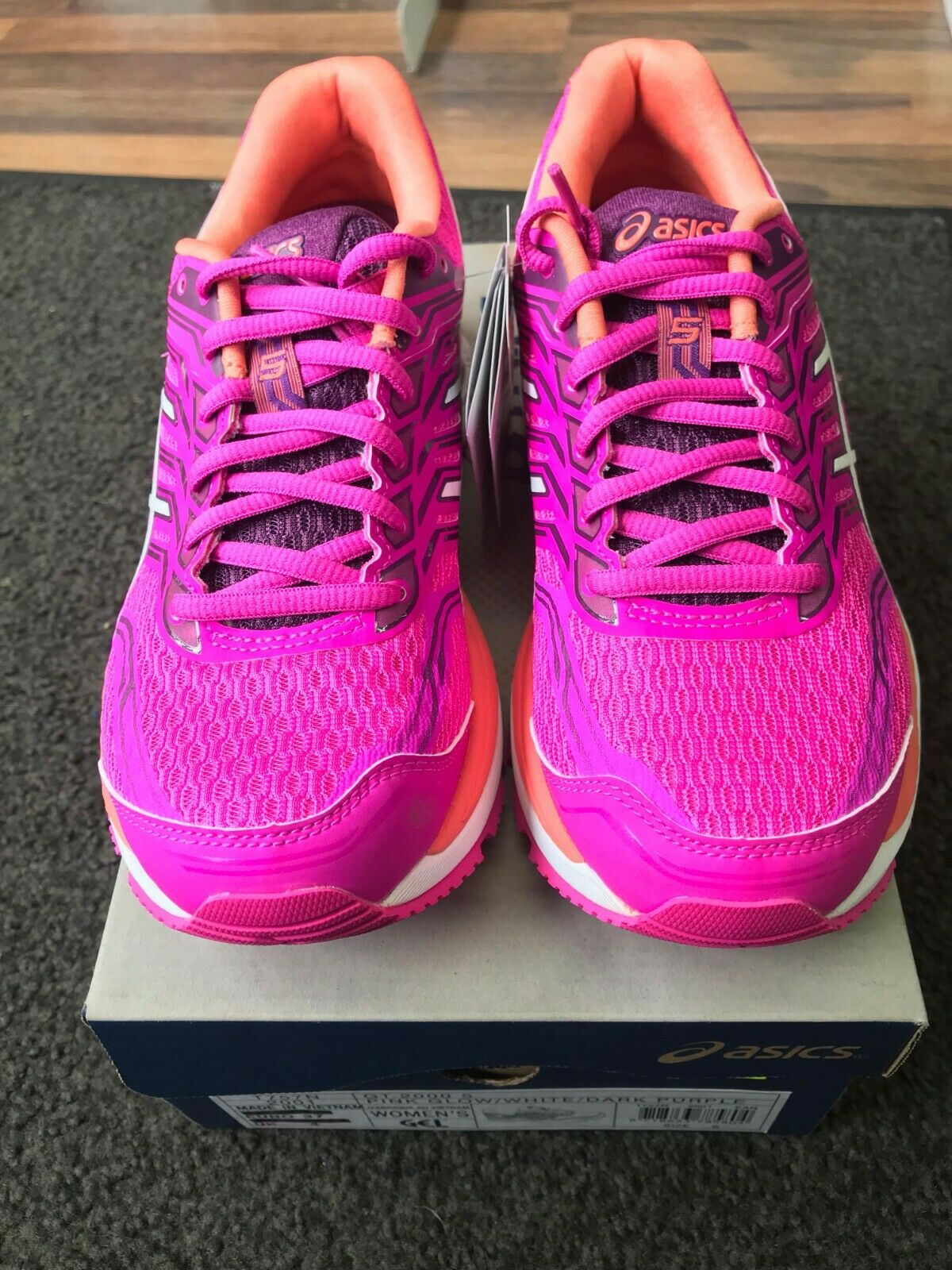 New ASICS GT-2000 5 womens running  shoe UK size 4.5  with 100% quality and %100 service