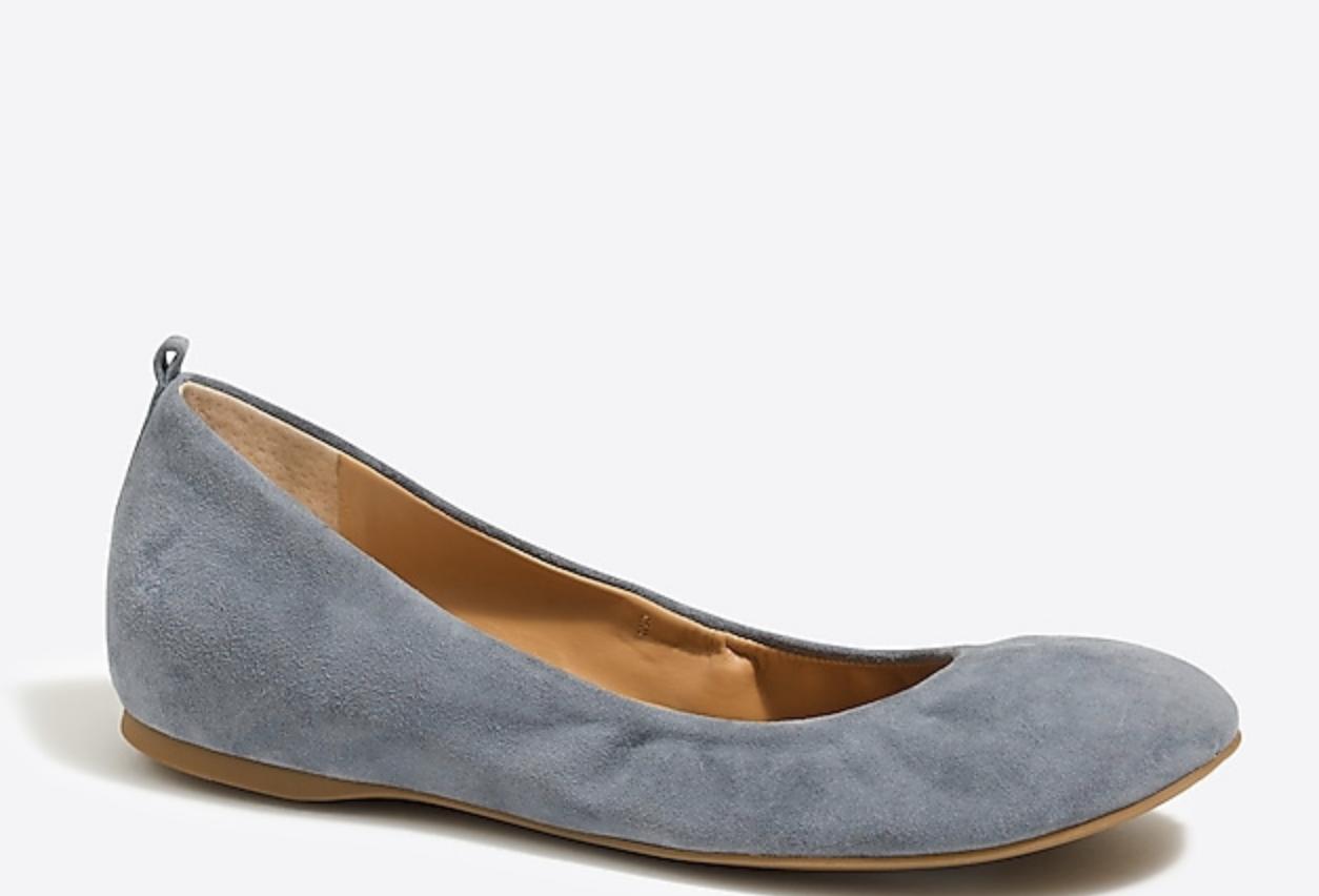 J Crew Factory Anya Gamuza Ballet Zapatos sin sin sin Taco Sin tamaño 8.5 M gris 100% Cuero De Gamuza Nuevo en Caja Original  Envío rápido y el mejor servicio
