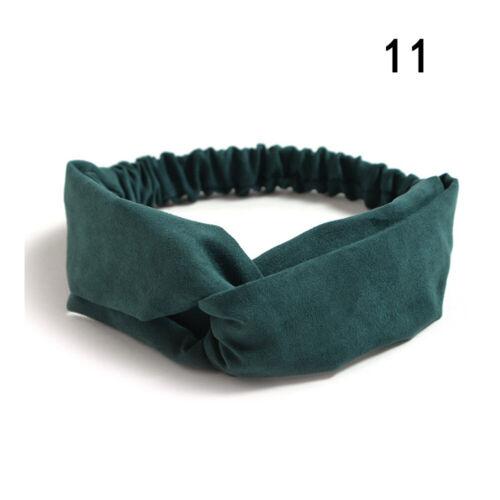 Plain Suede Knotted Headband For Women Turban Female Elastic Hairband Headwear