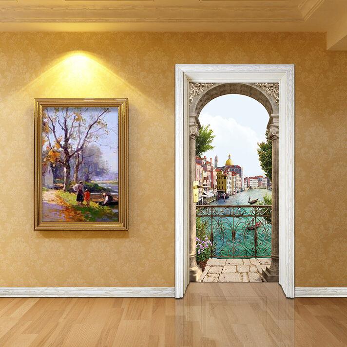 3D Balkon Tür Mauer Wandgemälde Foto Wandaufkleber AJ WALL DE Lemon