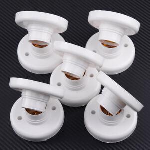 10x-E27-6A-Lampenfassung-Sockel-Deckenfassung-Kunststoff-Fassung-Lampe-Halter