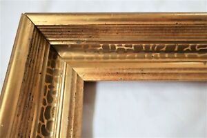 "Antique Fit 10 x 12"" Gold Gilt Picture Frame Stencil Wood Gesso Fine Art Country"