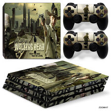 PS4 Pro Playstation 4 Console Skin Decal Sticker The Walking Dead Custom Design
