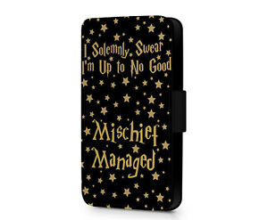 I-Solemnly-Swear-That-I-Am-Up-To-No-Good-HP-Faux-Leather-Flip-Phone-Case-Cover
