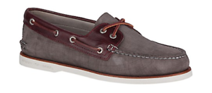 Sperry Sperry Sperry or Coupe A/O Gris/Bordeaux Nubuck Chaussures Bateau Homme Tailles 7-12 / 51341e