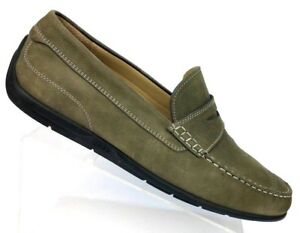 5f6dd902194 ECCO Gray Suede Penny Loafer Casual Moc Toe Driving Shoes Men US 13 ...