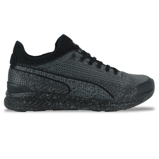 be75a548eeff50 PUMA Ignite Sock Woven Black out Splatter Mens Running Shoes ...