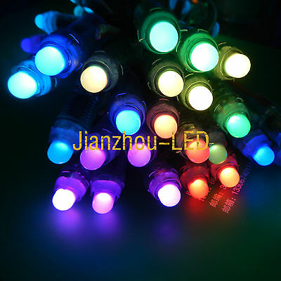 50PCS WS2811 Full Color RGB Pixels 12mm Waterproof Addressable LED String DC12V