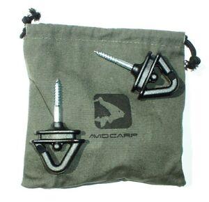 Zelthäringe Tasche Avid Carp Screw Steady Bivvy Pegs Rod-Pod-Befestigung incl