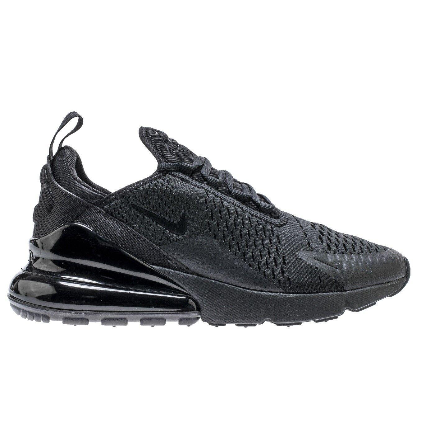Nike air max 270 uomini ah8050-005 triple nero maglie maglia scarpe taglia 9
