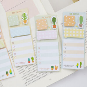 cactus cute stickers planner sticky notes stationery notepad