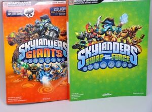Brady-Games-Skylanders-Game-Guide-Lot-of-2-Giants-and-Swap-Force-LN