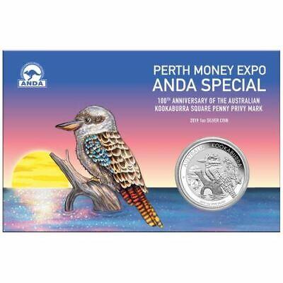 2019 100th Anniversary Australian Kookaburra Square Penny Privy 1 oz Silver Coin