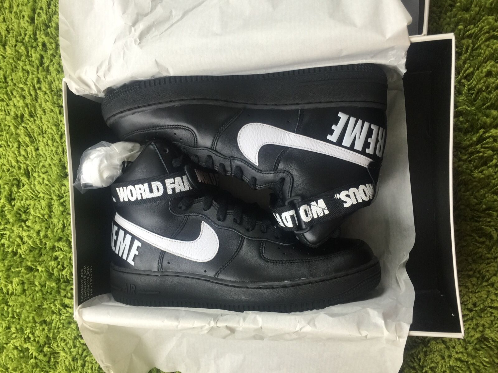 Supreme FW 2014 Nike Air Force 1 High SP Black White