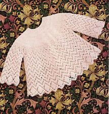 Baby knitting pattern for Angel top / dress in 4 ply wool in sizes 18 -20 in.