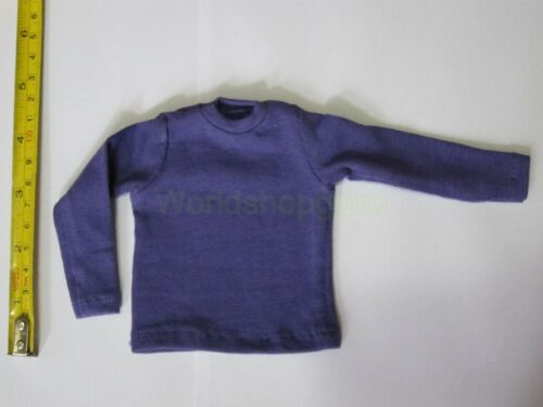 """1//6 Scale Tee Hot Purple Long Sleeves T-Shirt For 12/"""" Action Figure Toys"""