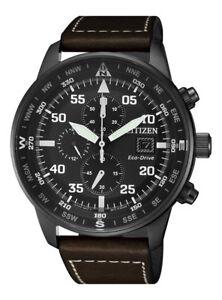 Citizen Crono Aviator Men S Eco Drive Chronograph Watch Ca0695 17e New 4974374273338 Ebay